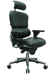Black Leather High End Office Chair