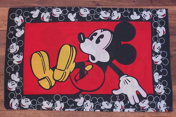 90s mickey mouse pillowcase vintage