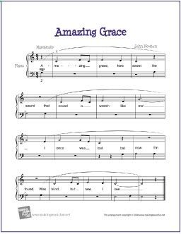 Amazing Grace Free Sheet Music For Easy Piano Makingmusicfun