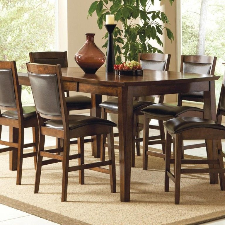 Kitchen Illuminated Rustic Counter Height Dining Table Sets Also