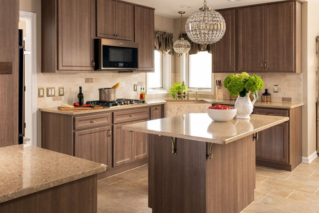 These cabinets were refaced in our Talas Cherry laminate ...