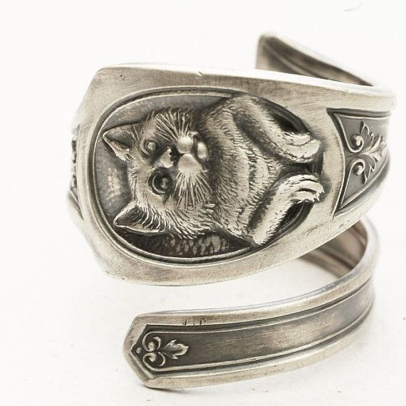 RESERVED FOR Zodwollop Spoon Ring Art Nouveau Sterling by Spoonier, $67.00