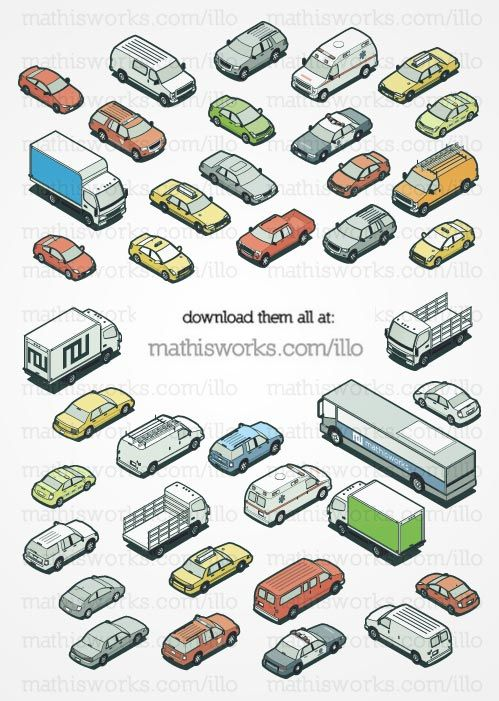 All my isometric cars in one place  Download them here  (The