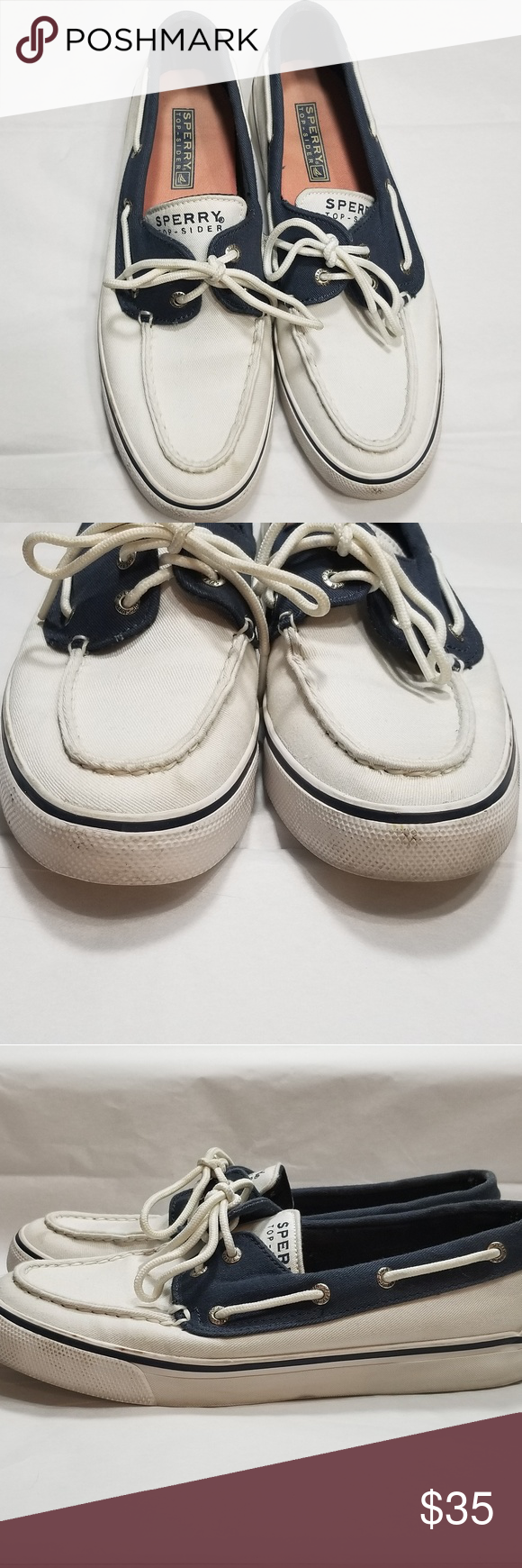 white canvas sperry boat shoes