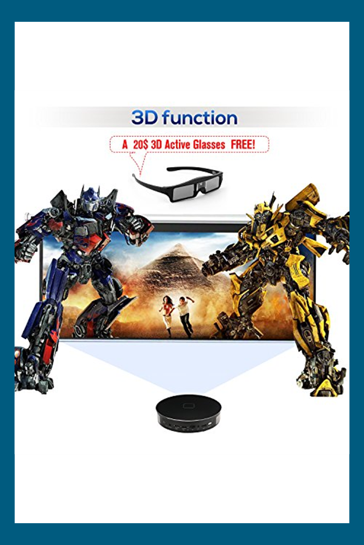 CANGSIKI D8S LED Android 6 0 Smart Projector,4K Decoding True 3D
