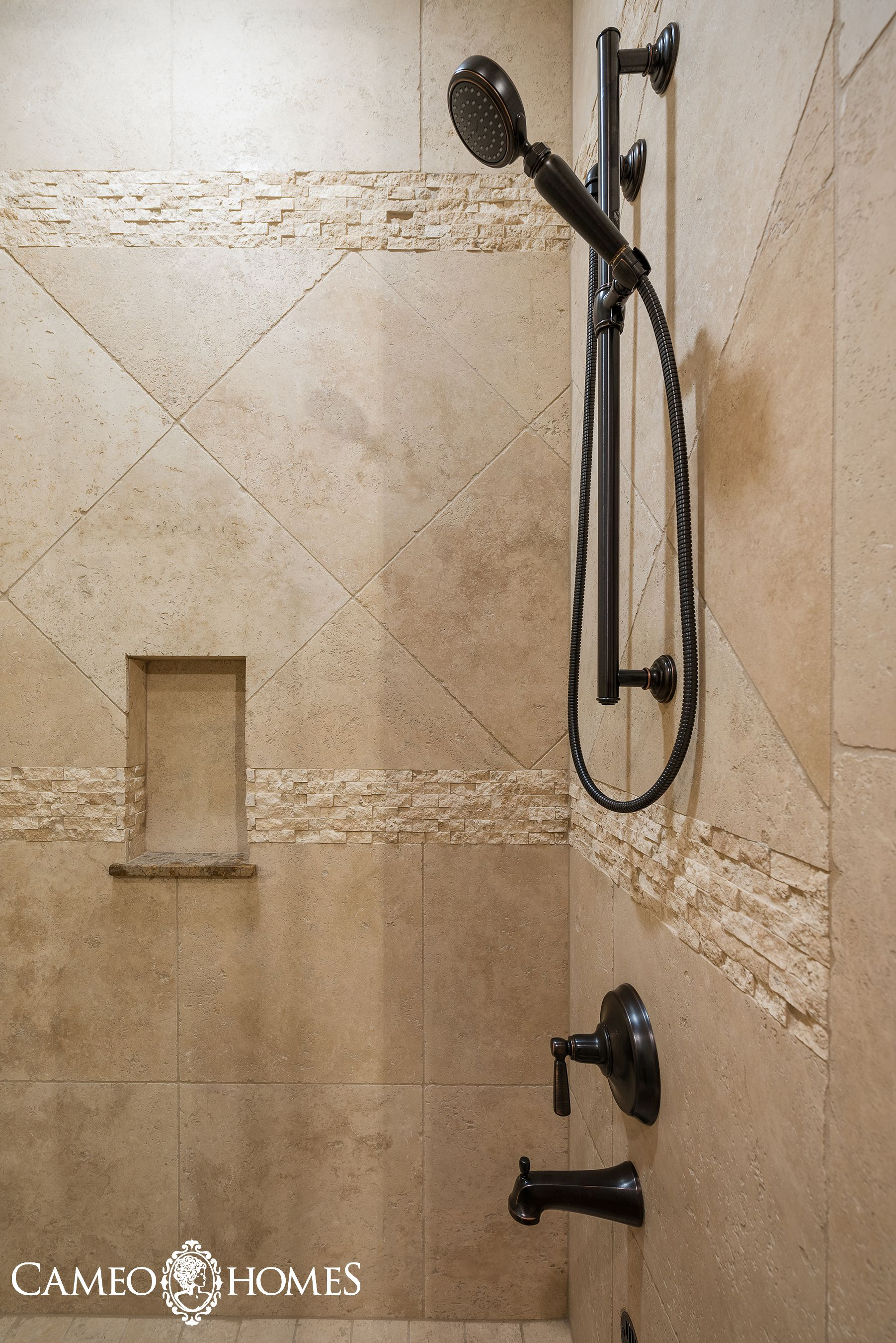 Beautiful Tile Combination in this shower in Park City, Utah by ...