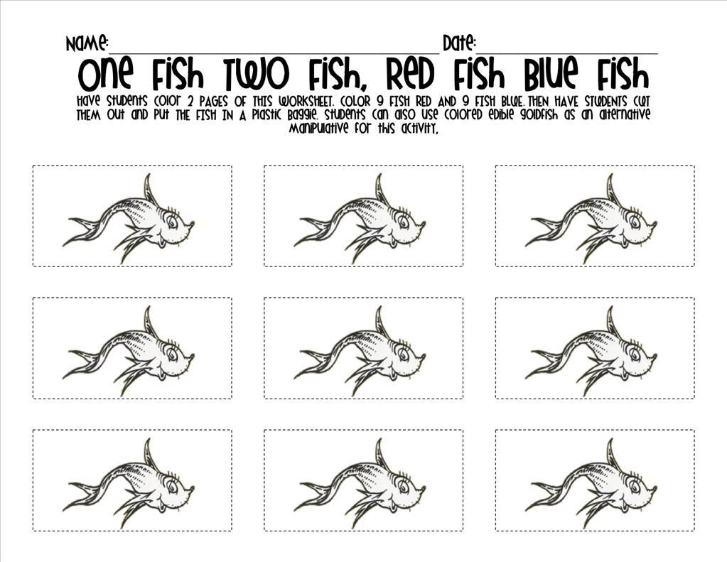 20+ One fish two fish coloring page HD