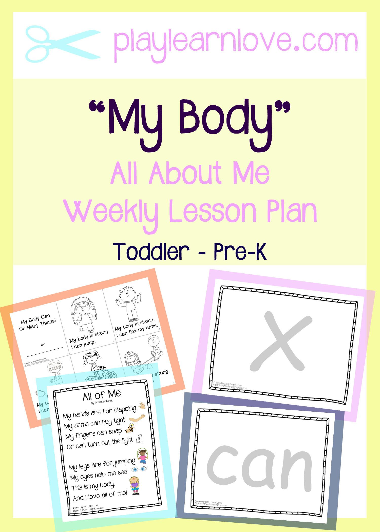 All About Me My Body Lesson Plan From Play Learn Love Kid