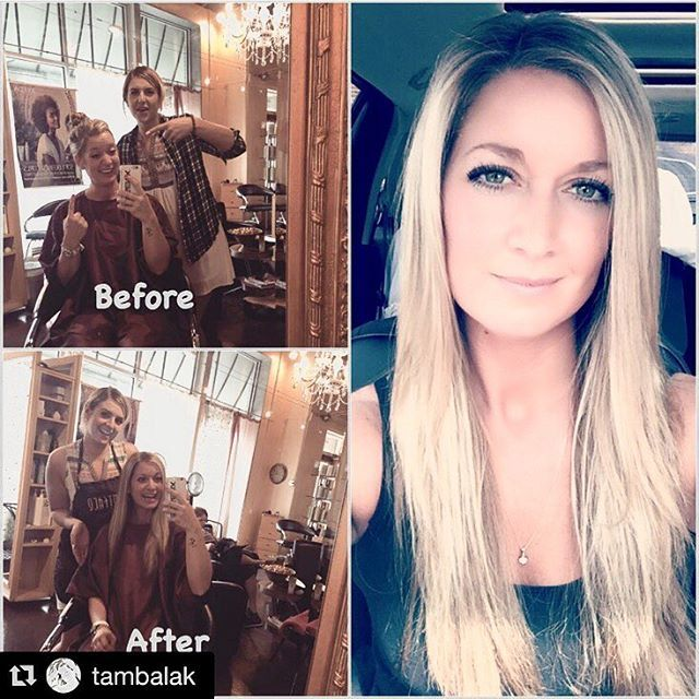 #review ✨✨ @tambalak ・・・ A lil twist on the usual #transformationtuesday post! Today I snuck in to the #hairsalon with greasy unwashed hair in a top knot with grey hairs sticking out everywhere!! With the magic of my girl @hairbykbez I came out feeling fresh & blonde & pretty again!! She seriously rocks my world every time!!! Thanks again @beezle_juice!!! ❤️#blonde #besthairstylist #besthairsalon #yeg #jigsawforhair @jigsawforhair #blondehair #yeghairstylist