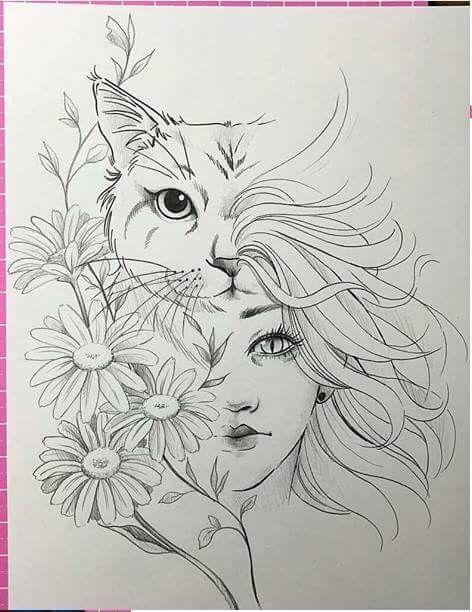 Gato hermoso dibujo – #Beautiful #cat #Dibujo #diytattooimages – imágenes de tatuaje de bricolaje