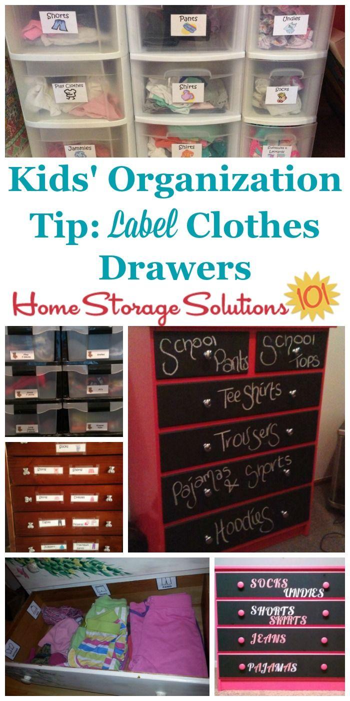 Kids Bedroom Closet Organization Idea Use Clothing Drawer