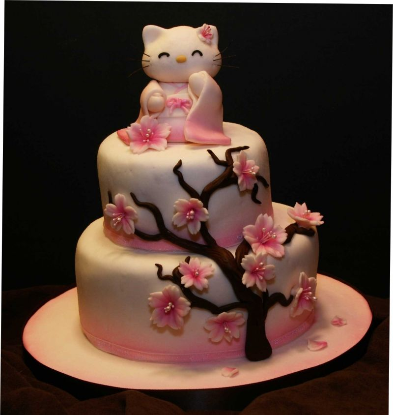 Happy Birthday Cute Japanese Birthday Cake Asian Theme Party Kids