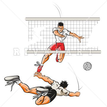 Pin by Rivalart.com on Volleyball Clip Art   Volleyball ...