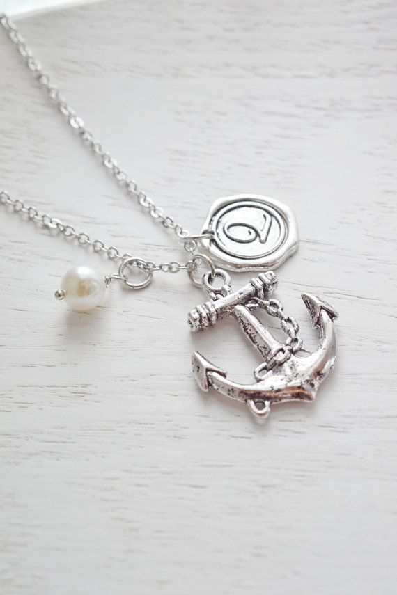 Hey, I found this really awesome Etsy listing at https://www.etsy.com/listing/154010018/silver-anchor-charm-necklacepersonalized