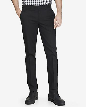 Skinny Innovator Black Cotton Dress Pant From Expresslife Cheap