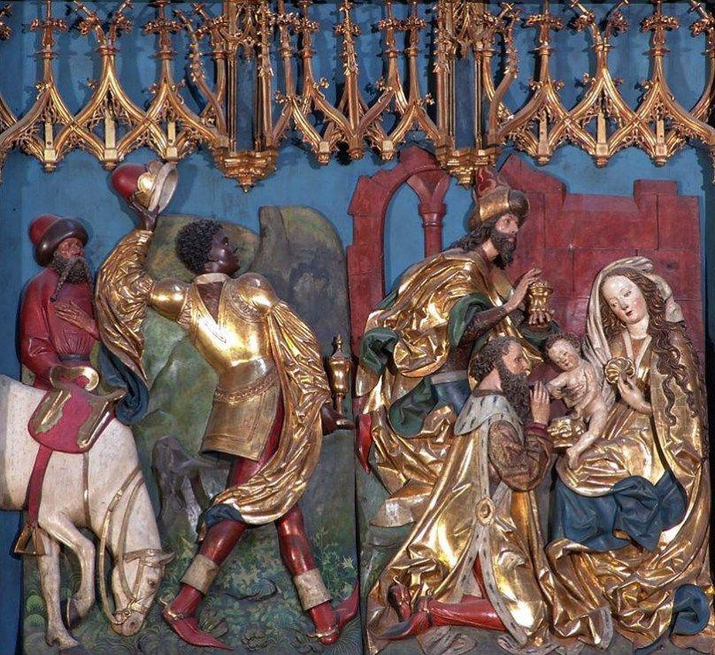"""Wit Stwosz, """"Pokłon Trzech Króli"""", kwatera Ołtarza Mariackiego, 1477-1489, bazylika Mariacka w Krakowie, fot. Paweł Migasiewicz - photo 1"""
