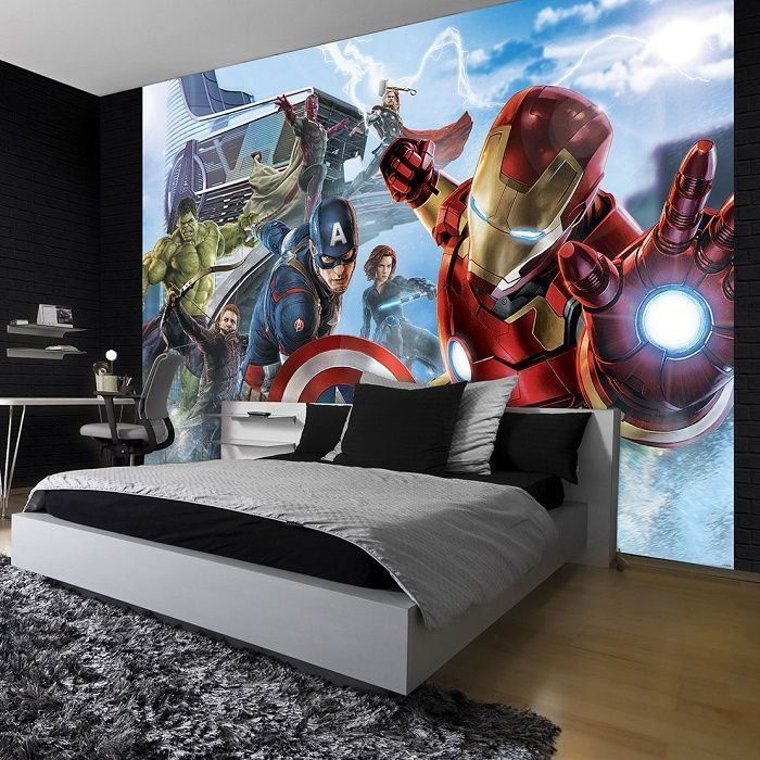 Best Giant Size Wallpaper Mural For Boy S Room Marvel Paper 400 x 300
