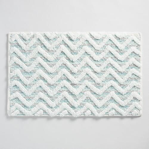 One Of My Favorite Discoveries At WorldMarketcom Aqua Chevron - Black and white chevron bath rug for bathroom decorating ideas