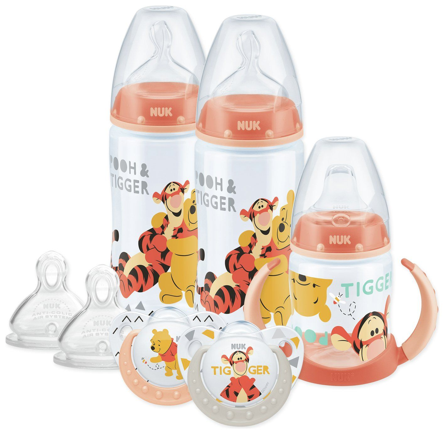 NUK Winnie the Pooh Silicone Soothers 2pk 0-6 Months colour and design may vary