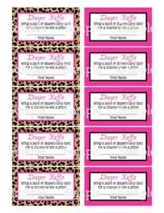 Free Printable Diaper Raffle Ticket Template | Baby shower ...