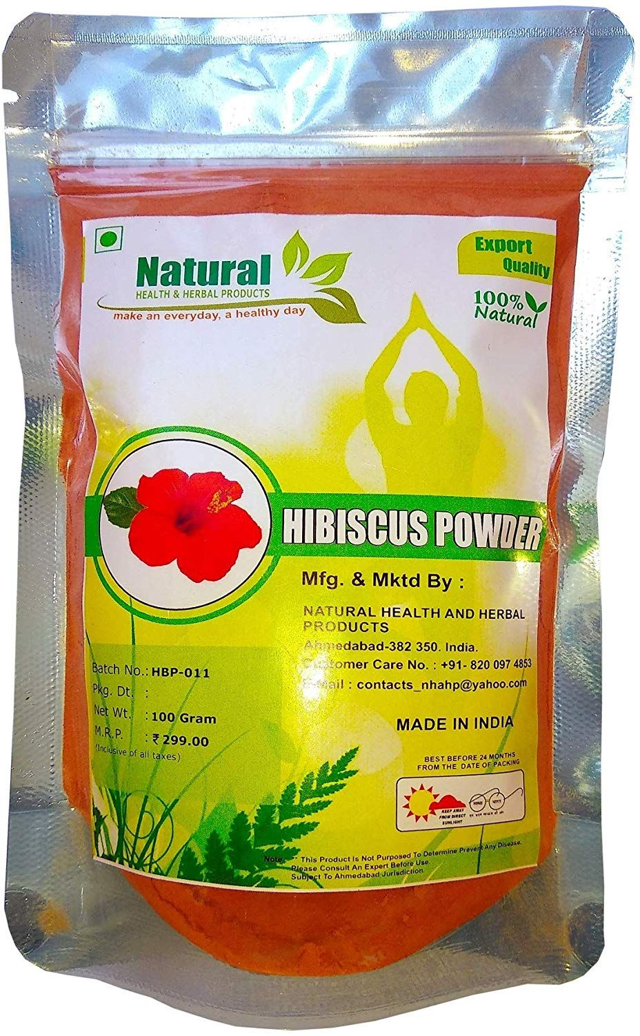 Natural Health And Herbal Products Hibiscus Flower Powder For Hair Growth 100 Grams Condition Dry Hair Herbalism Natural Health