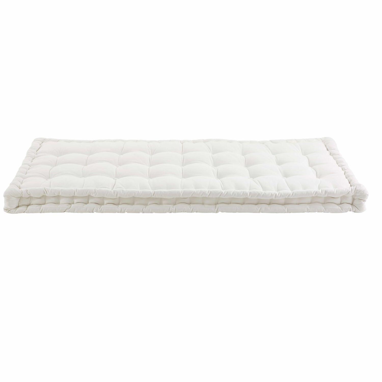 Ecru Cotton Futon Mattress 90 X 190 Cm