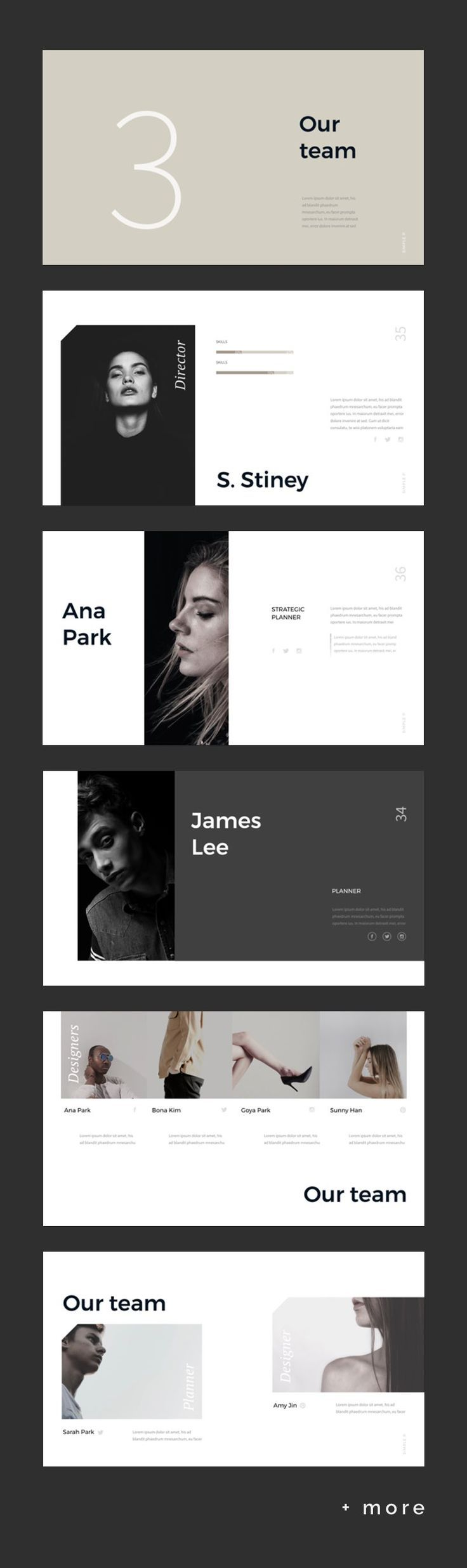 Simple & Minimal Presentation Template #keynote #presentation ...