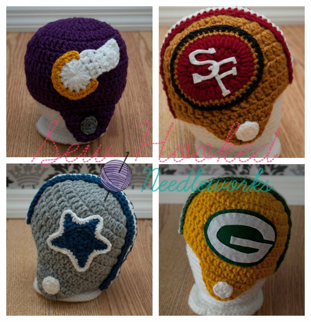 Crochet Football Team Inspired Helmet (Pick Your Team or Request a ...