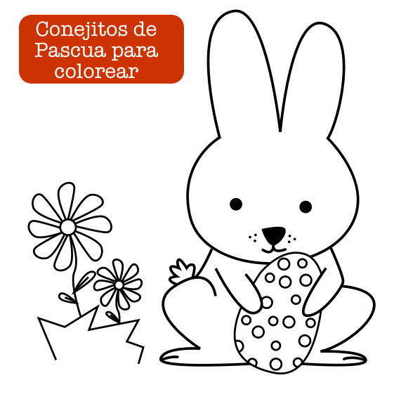 Colorear conejitos de Pascua | Ideas y manualidades Pascua ...