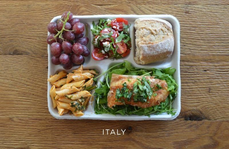 Kids lunch from around the world