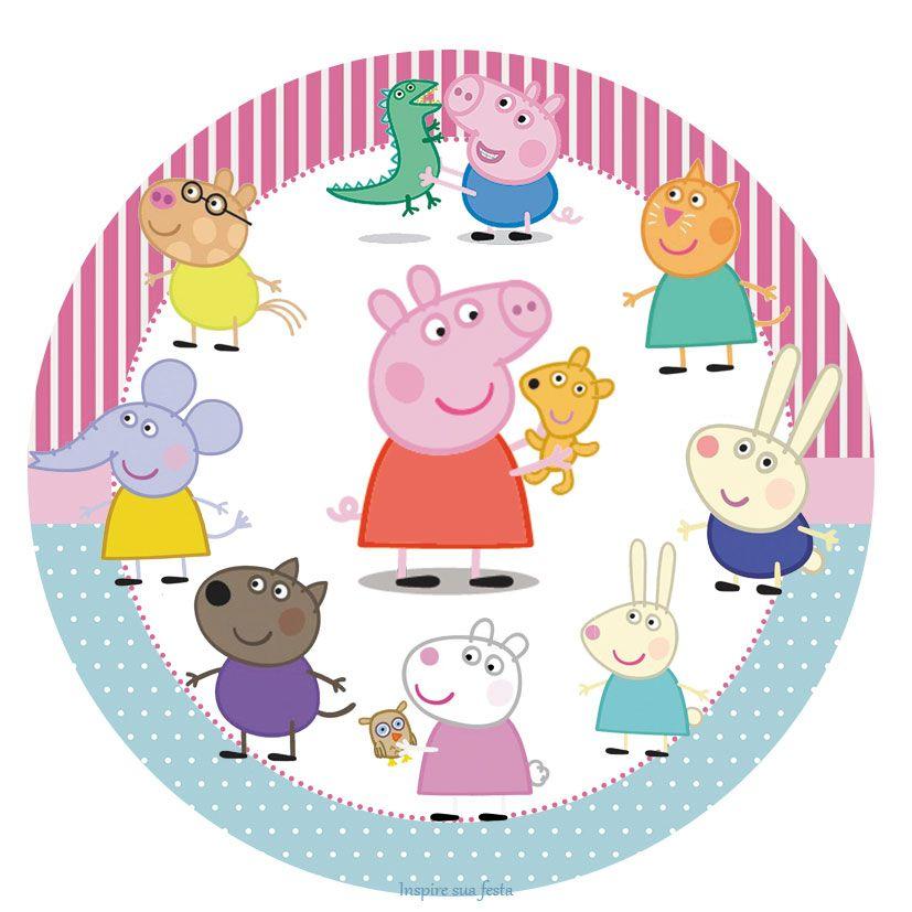 Kit Festa Gratis Para Imprimir Peppa Pig Artesanato De Porco