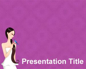 Free Woman Health Powerpoint Template Brainy With Violet