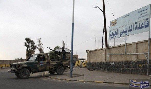 ثلاث غارات لطيران التحالف العربي تستهدف قاعدة الديلمي بالقرب من