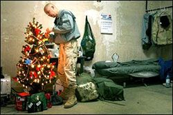 Read this with my boys every year.... A soldier's christmas Poem ...