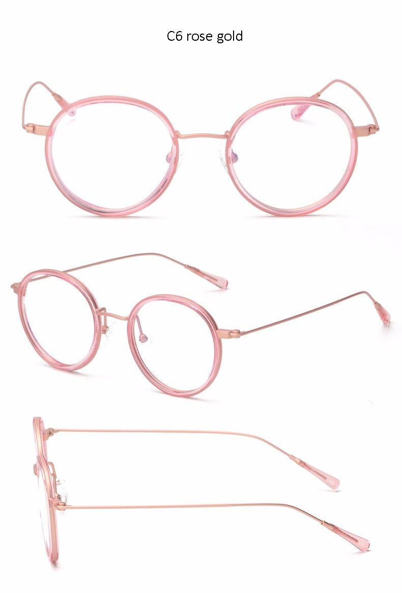 Moda tr90 Gafas Marcos mujeres marca óptica ojo redondo Gafas para ...