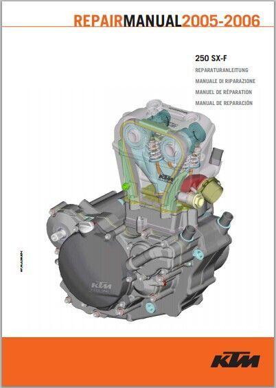 2005 2006 Ktm 250 Sx F Service Repair Manual Pdf Download Repair Manuals Engine Repair Repair