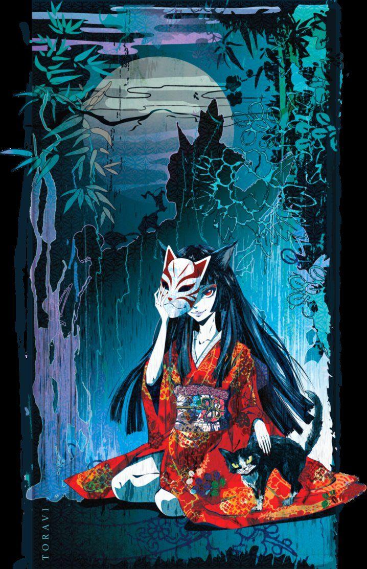 Bakeneko by toravi Japanese art, Japanese folklore, Fox art