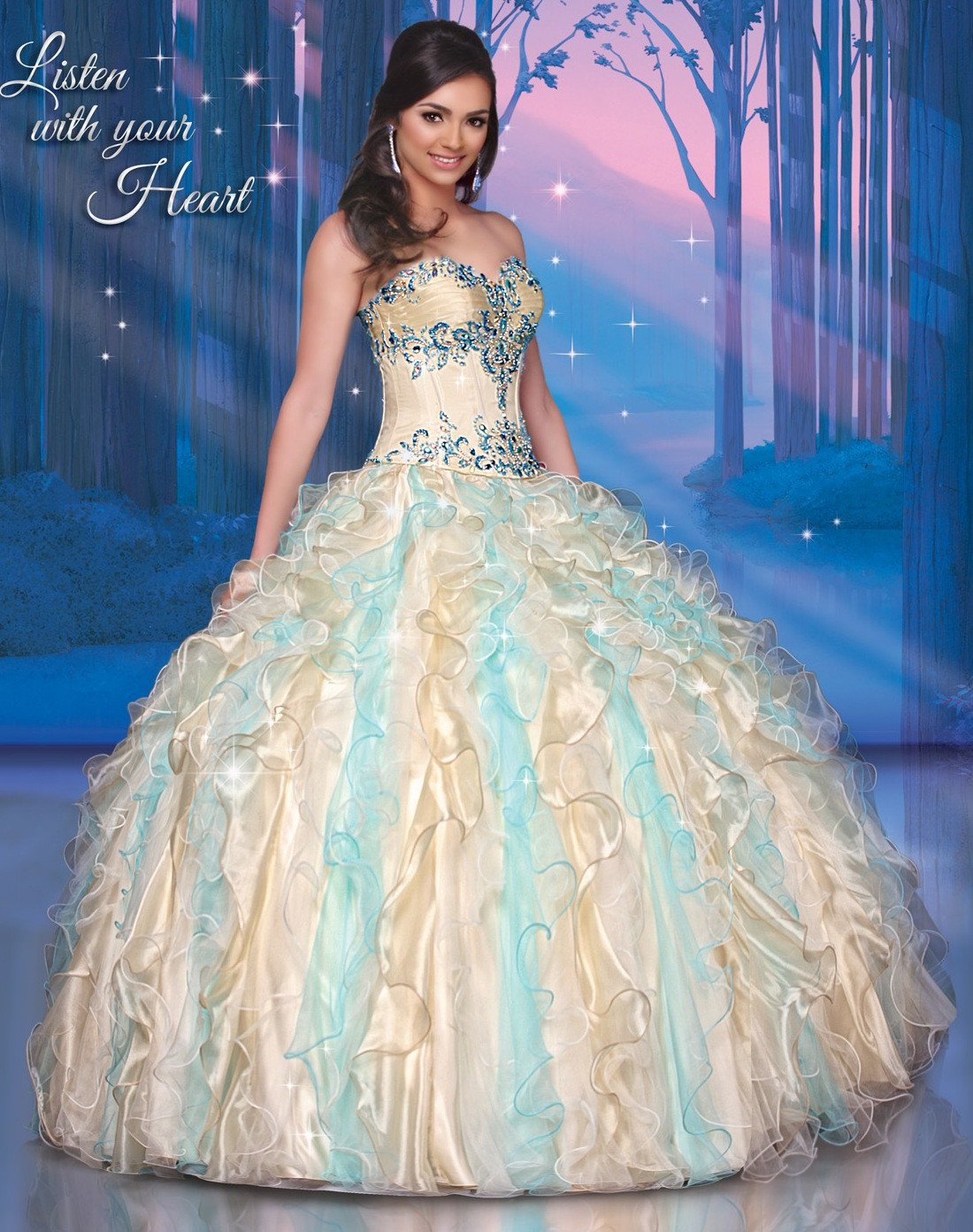 Disney royal ball quinceanera dress pocahontas style in