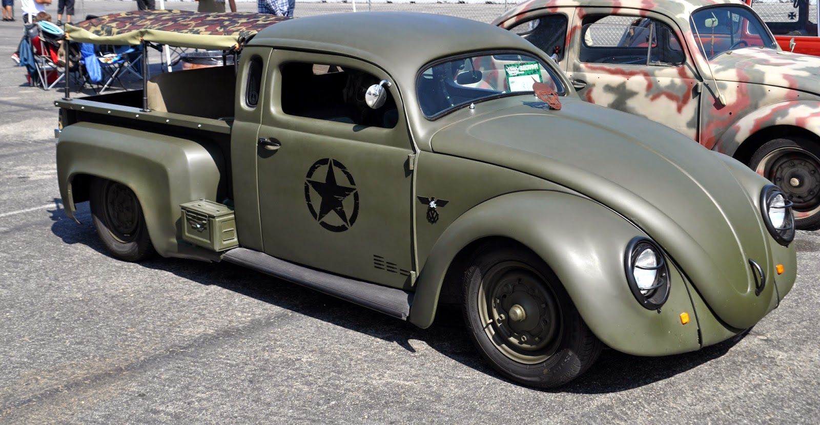 Just a car guy : interesting bug/truck creation with a military motif