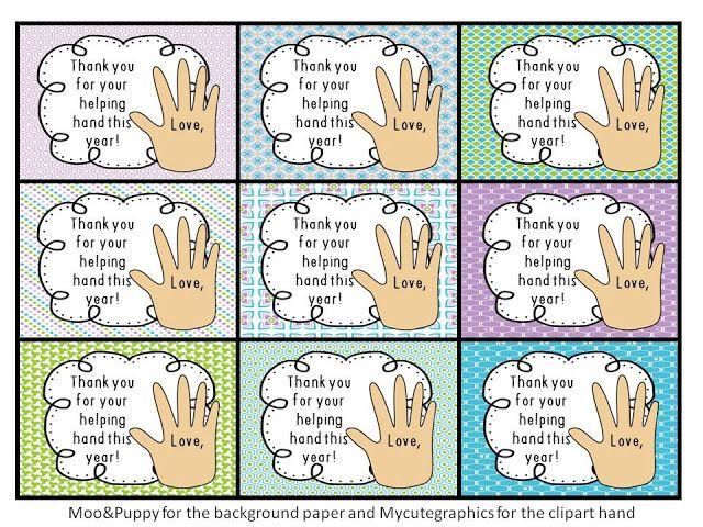 Tonya S Treats For Teachers Thanks For Your Helping Hand Part 2 Helping Hands Teachers Teacher Appreciation Week