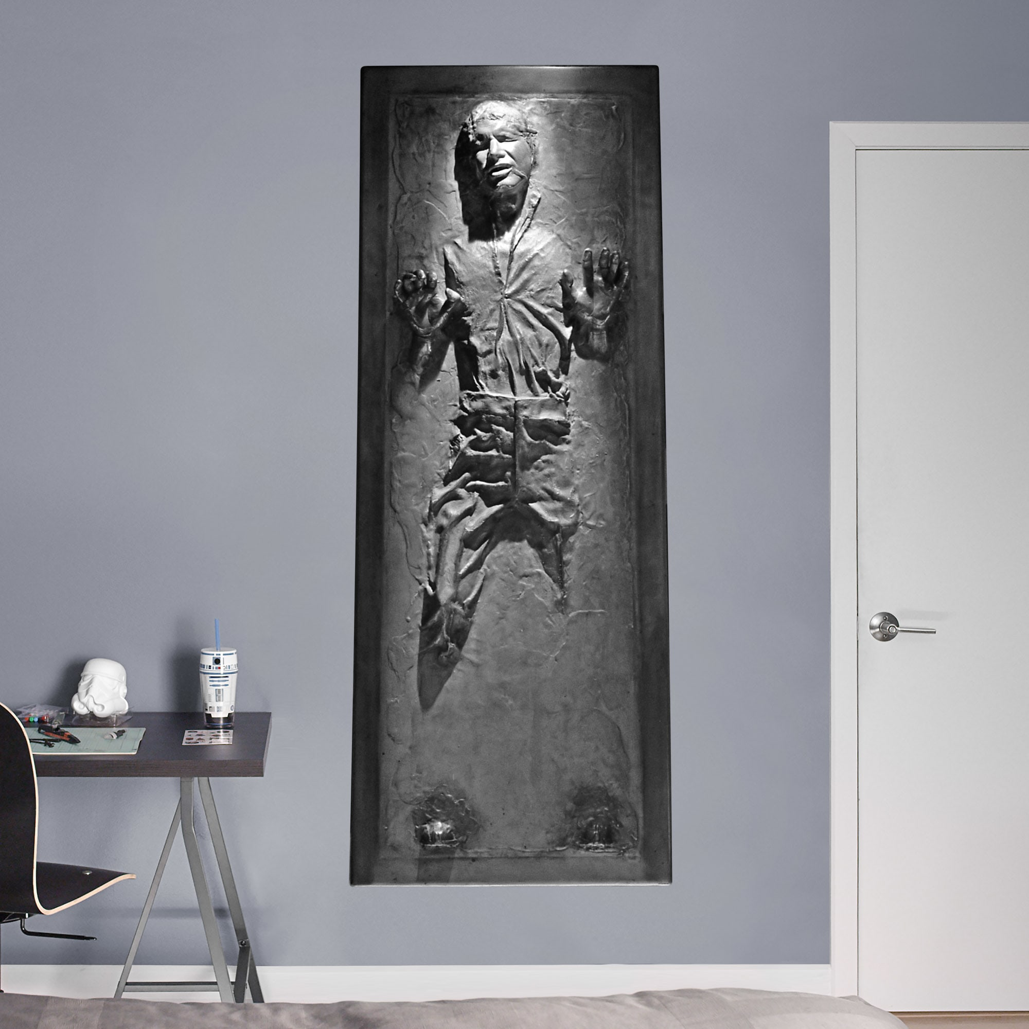 Life Size Han Solo In Carbonite Life Size Officially Licensed Star Wars Removable Wall Decal Wall Decal Star Wars Wall Decal Star Wars Decal Star Wars Room