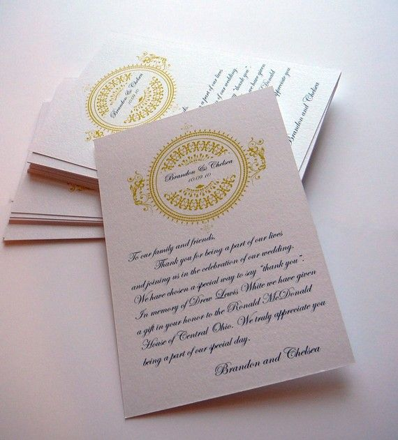 In Lieu of Favor Card - I really like the wording Inspiring Ideas - birthday invitation wording no gifts donation