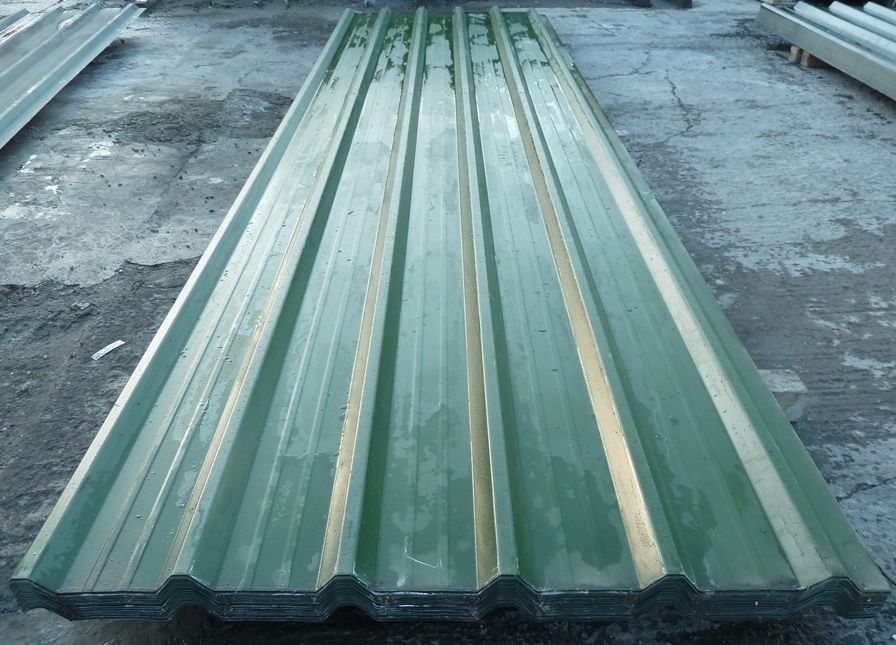 Steel Roofing Sheets Box Profile Juniper Green Pvc Coated Metal Roof Very Cheap Steel Roofing Sheets Metal Roof Steel Roofing