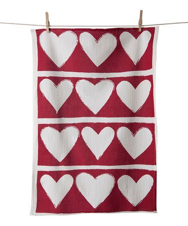 Another great find on #zulily! Heart Flour Sack Dish Towel #zulilyfinds