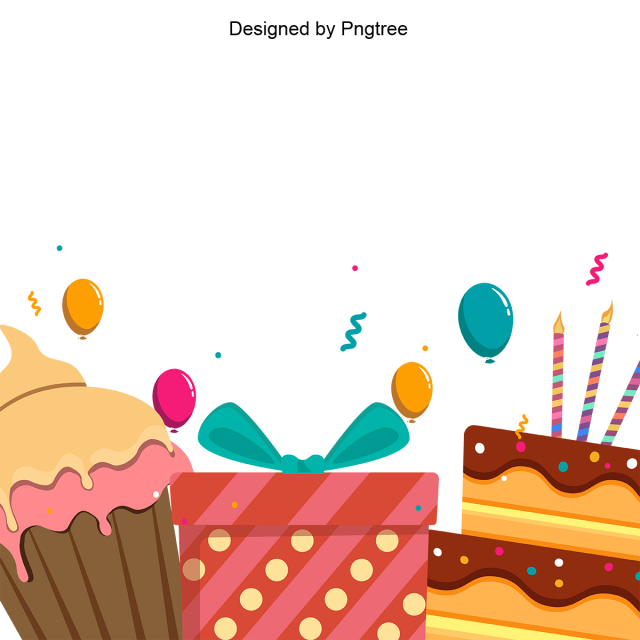 With Cake And Gift, Birthday, Happy PNG and Vector with