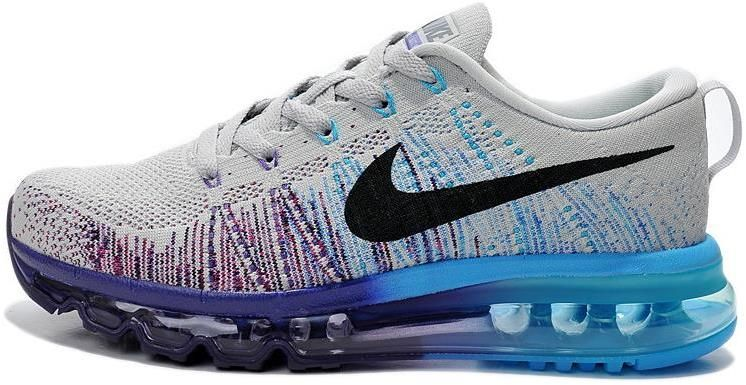 Nike Air Max 2014 Flyknit Grey Black Purple Blue | Mens Air