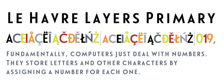 Le Havre Layers Primary Havre Le Havre Text Fonts