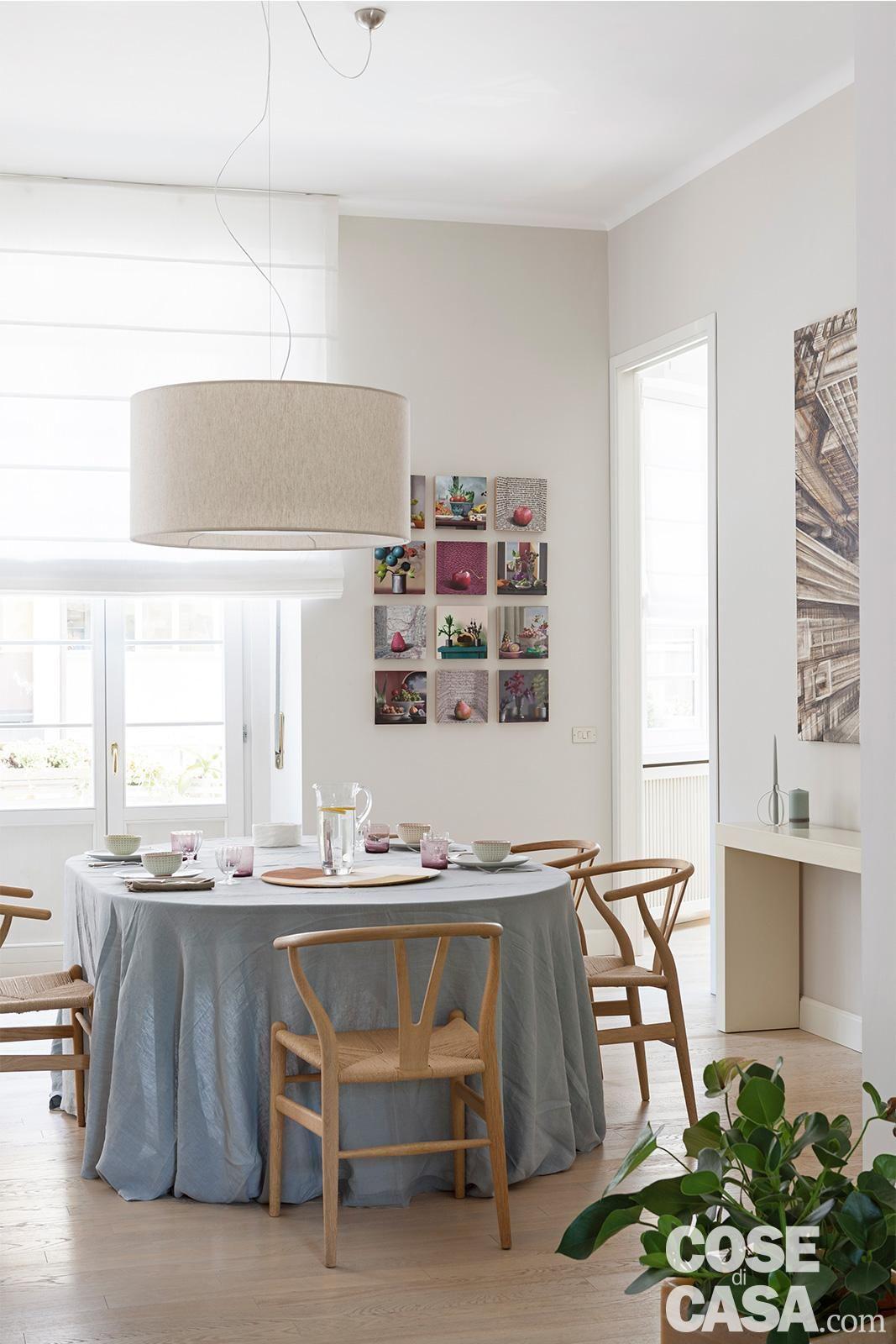 Una casa in stile nordico, elegante e accogliente Tavoli