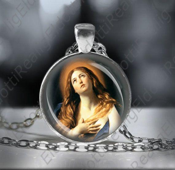 41446413ba2 St. Mary Magdalene Necklace Catholic Patron Saint of Women Medal ...