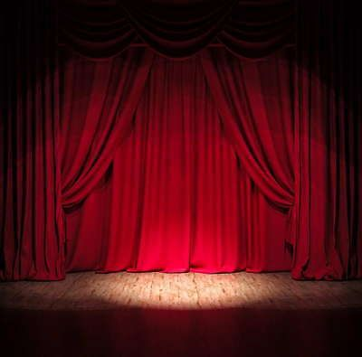 Stage Photography Background Red Curtain Backdrop Studio Props 8x8FT Vinyl